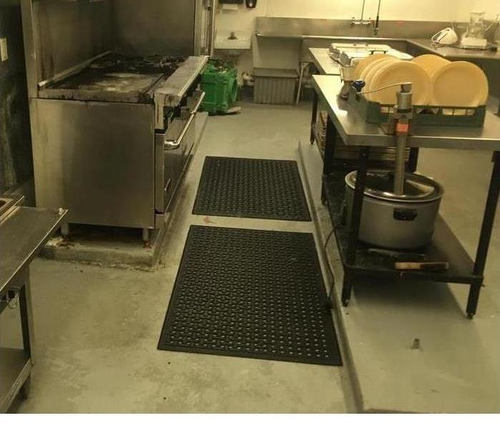 Commercial Kitchen cleaned to pre loss condition After